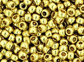 10 g 11/0 TOHO Seedbeads, Permanent Finish - Galvanized Yellow G
