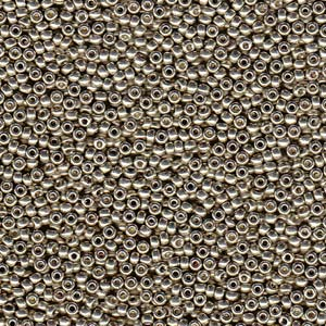 10 g 8/0 Seedbeads, Duracoat Galvanized Light Smokey Pewter