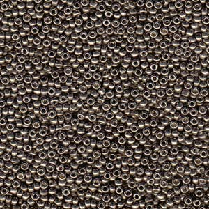 10 g 15/0 Seedbeads, Duracoat Galvanized Pewter