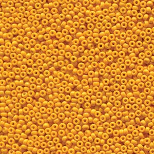 10 g 15/0 Seedbeads, Duracoat Opaque Dyed Yellow