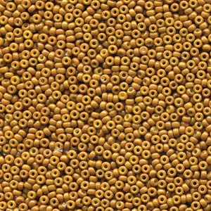 10 g 15/0 Seedbeads, Duracoat Opaque Dyed Yellow Olive