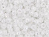 10 g 11/0 TOHO Seedbeads, Opaque - Rainbow White