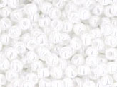 10 g 11/0 TOHO Seedbeads, Opaque - Lustered White