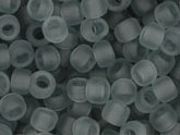 10 g 8/0 TOHO Seedbeads, Transparent - Frosted Light Grey