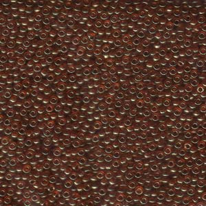 10 g 11/0 Seedbeads, Transparant Red Gold Luster