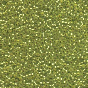 10 g 11/0 Seedbeads, Matt Silverlined Chartreuse