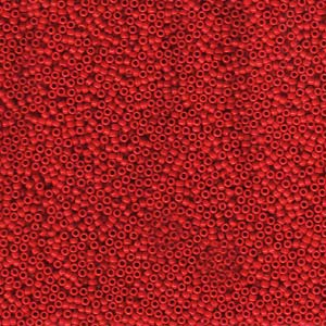 10 g 15/0 Seedbeads, Opaque Red