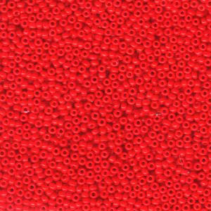 10 g 11/0 Seed Beads, Opaque Red