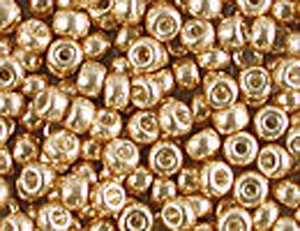 10 g 8/0 Seedbeads Galvanized Gold