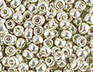 10 g 8/0 Seedbeads Galvanised Silver