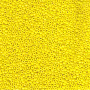 10 g 11/0 Seed Beads, Opaque Yellow