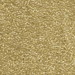 10 g 15/0 Seedbeads Sparkling Gold Lined Crystal