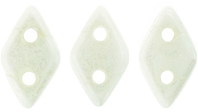 50 st Diamond 4x6,5 mm, Luster-Opaque White