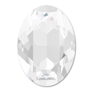 1 st Swarovski Fancy Oval, 4120, 18 x 13 mm, Crystal