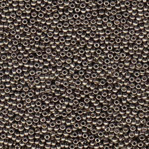 10 g 8/0 Seed beads, Duracoat Galvanized Pewter