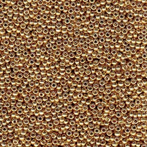10 g 15/0 Seedbeads, Duracoat Galvanized Champagne