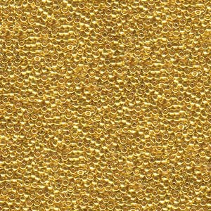 2 g 15/0 Seedbeads, 24 KT gold plated