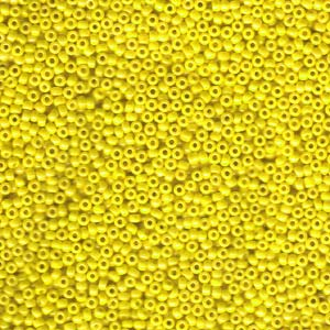 10 g 11/0 Seed Beads, Opaque Yellow Luster