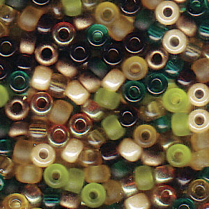 10 g 8/0 Seedbeads, Mix Earth Tone