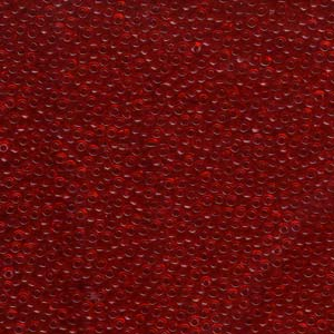 10 g 11/0 Seedbeads, Transparent Red