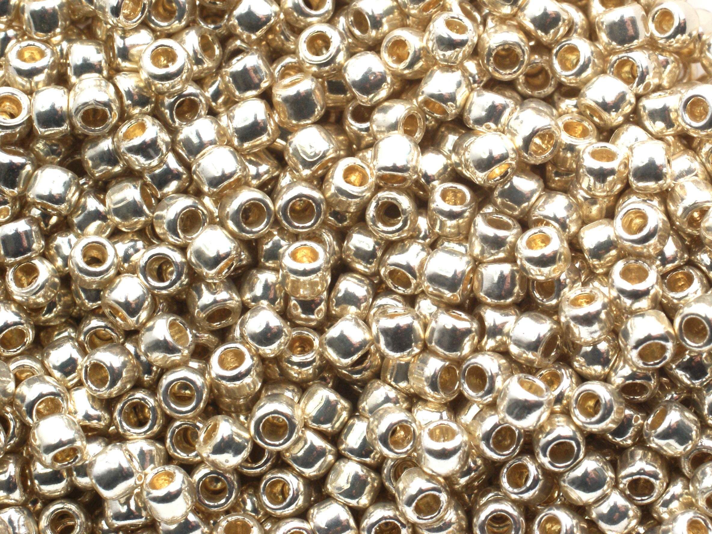 10 g 11/0 TOHO Seedbeads, Permanent Finish Galvanized Aluminium