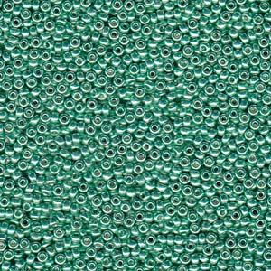 10 g 11/0 Seedbeads, Duracoat Galvanized DarkMint Green