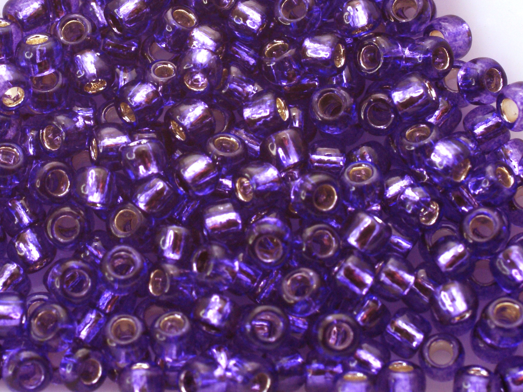 10 g 8/0 TOHO Seedbeads, Silverlined Purple