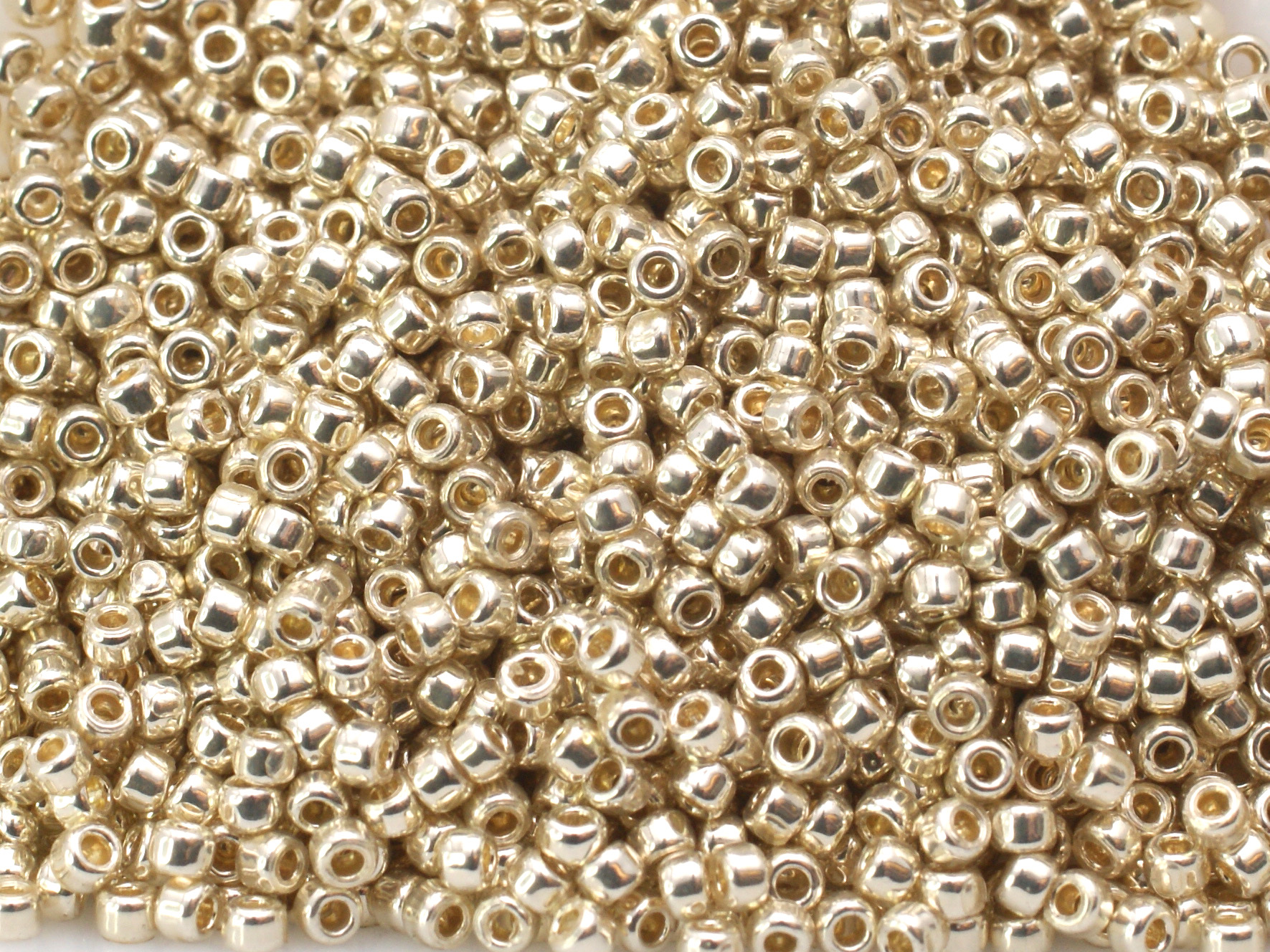 10 g 15/0 TOHO Seedbeads, Permanent Finish - Galvanized Aluminiu