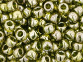 10 g 8/0 TOHO Seedbeads, Gold-lustered Green Tea