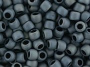 10 g 8/0 TOHO Seedbeads, Matte-Color Gunmetal