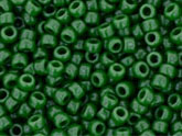 10 g 15/0 TOHO Seedbeads, Opaque Pine Green