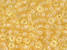 5 g Matubo Seedbeads 8/0, Luster Transparent Champagne