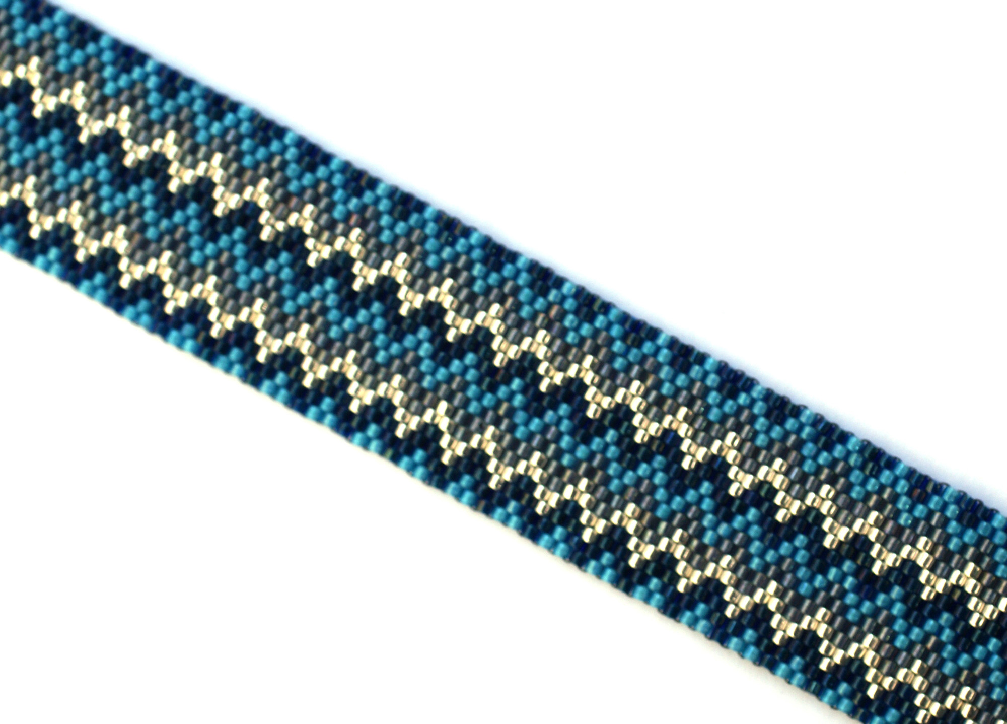 Even Peyotemönster: Zigzag Blue