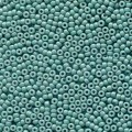 10 g 15/0 Seedbeads, Duracoat Opaque Dyed Blue Gray