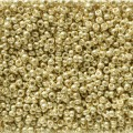 10 g 11/0 Seedbeads, Duracoat Galvanized Yellow