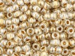 10 g 11/0 TOHO Seedbeads, Gold-Lined Crystal