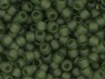 10 g 11/0 TOHO Seedbeads, Transparent - Frosted Olivine