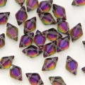 30 st Gemduo, 5 x 8 mm, Backlit Purple Haze