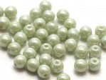 50 st runda, 4 mm, Chalk White Mint Luster