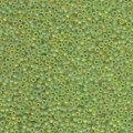 10 g 11/0 Seedbeads, Matt Transparent Chartreuse AB