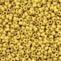 10 g 15/0 Seedbeads, Matted Opaque Canary