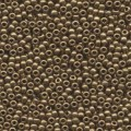 10 g 8/0 Seed Beads, Metallic Light Bronze