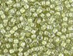 10 g 11/0 Seed Beads, Olive Lined Crystal Lustre