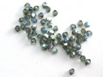50 st Swarovski Bicone 3 mm Black Diamond AB