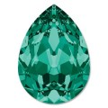 1 st Swarovski Pear 4320, 18 x 13 mm, Emerald