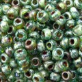 10 g 8/0 Seed beads, Picasso Transparant Olivine