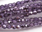 50 st Firepolished, 3 mm, Violet Metallic Ice