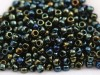 10 g 8/0 TOHO Seedbeads, Metallic Iris Green/Brown