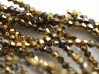 ca 100 biconer, 3 mm, Half Gold Metallic