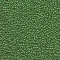 10 g 11/0 Seed Beads, Opaque Jade Green Luster